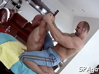 pleasuring a lusty gay stud